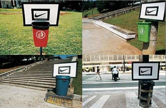 Campagne street marketing pour Nike